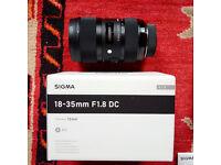 Sigma ART 18-35 1.8 DC B.N.I.B. for Nikon