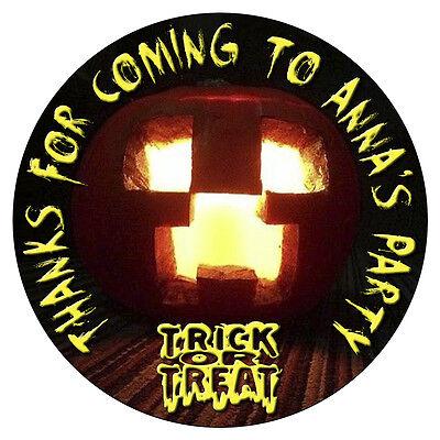 Personalizado Halloween Adhesivos Fiesta de Cumpleaños Dulce Conos - Bolsas De Dulces Halloween