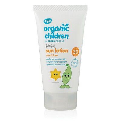 Green People Organisch Kinder Sonnencreme Spf30 - Duft Frei - 150ML