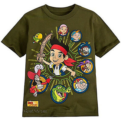 Disney Store JAKE AND THE NEVERLAND PIRATES PIRATE GREEN BOYS TEE T SHIRT 2/3 - Jake And The Neverland Pirate Shirt