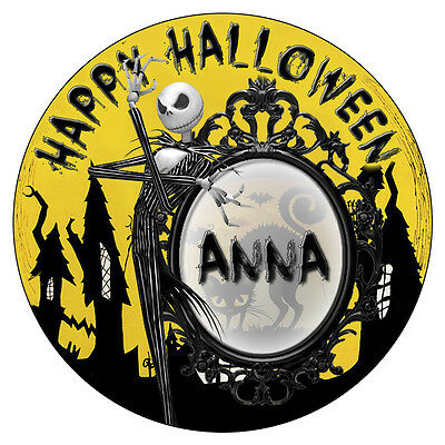 Personalisiert Halloween Sticker Geburtstagsparty Sweet Kegel Tasche Etiketten