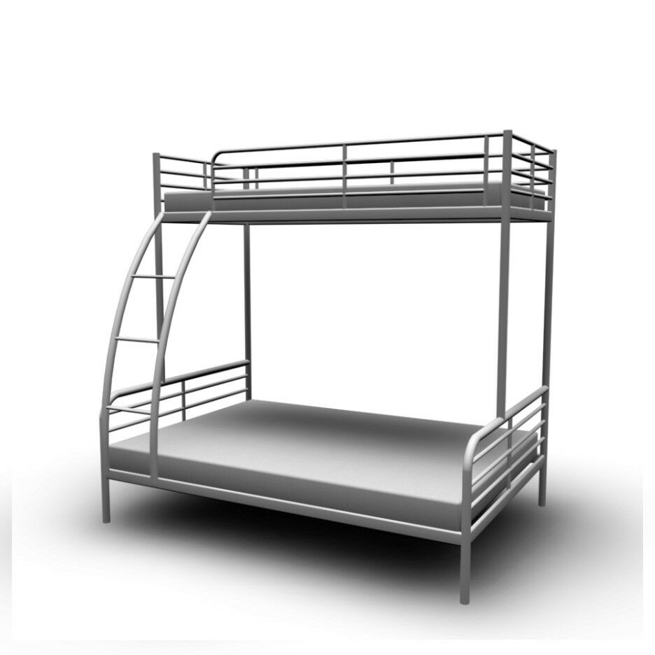 Ikea Double Amp Single Bunk Bed Triple Sleeper Metal Bunk