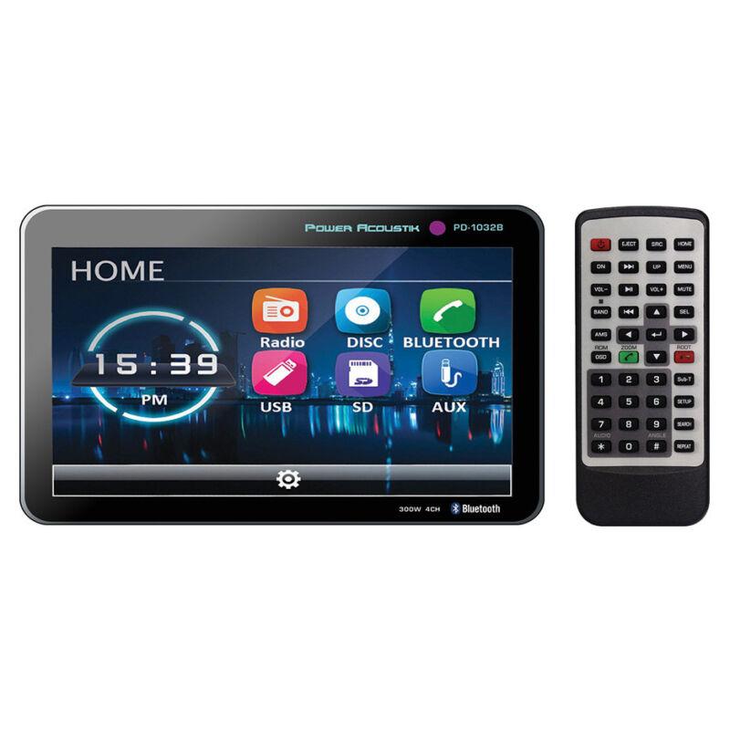 "Power Acoustik 10.3"" Double Din Receiver with Bluetooth & Detachable PD1032B"