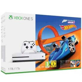Xbox One S 1Tb Console With Forza Horizon 3 and hot wheels