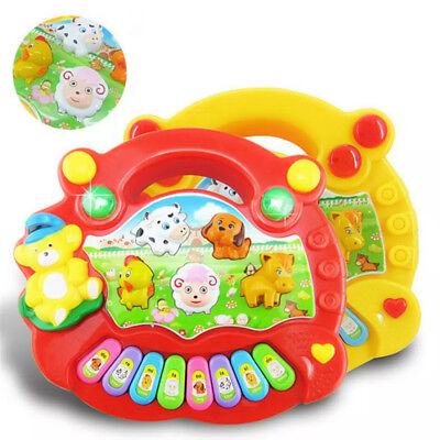New Popular Musical Instrument Toy Baby Kids Animal Farm Piano Developmental Mus