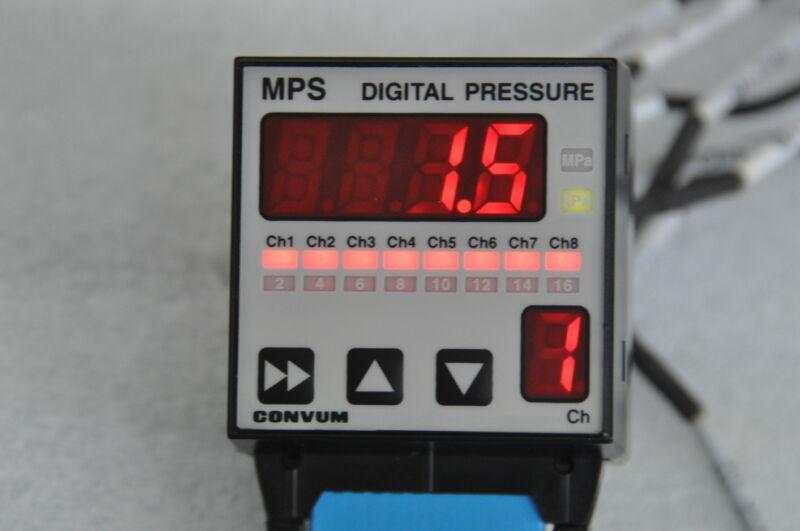 CONVUM MPS-78E-NC Digital Pressure Sensor 8Channel