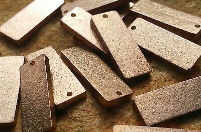 "50pc, Metal Stamping Blanks, 1"" Bronze Rectangles, MADE IN USA"