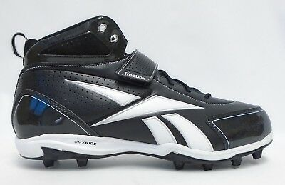 a3756ba924bcb8 Reebok NFL Pro Thorpe III MP2 Black and White Football Cleats - Size 16