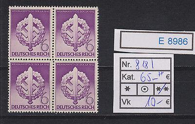 (E8986) DR Nr.818 I ** im Viererblock linke Marke oben Strich durch Schwert