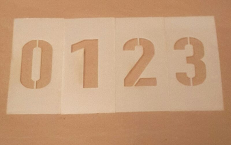 2 inch Parking Lot Number Set Stencil two each of 0-9 & two dashes Arts & Crafts