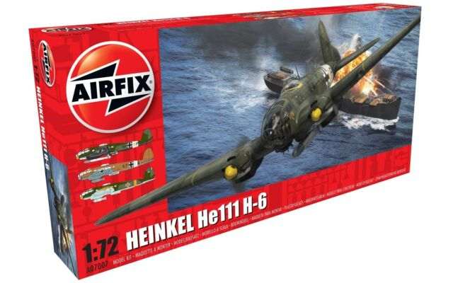 AIRFIX 1:72 A07007 HEINKEL He111 H-6 PLASTIC MODEL KIT NEW & BOXED!!!!!!!!!!!