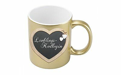Metallic-kaffee (Lieblingskollegin - Goldmetallic Kaffeetasse)