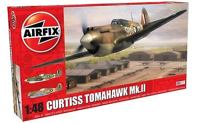 Airfix Curtiss Tomahawk MK.II 1:48 Scale Plastic Model Plane A05133