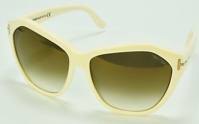Tom Ford TF317 25G Sunglasses White Frame Brown Gradient Lens 61-15-140 (Tom Ford Sunglasses White Frame)