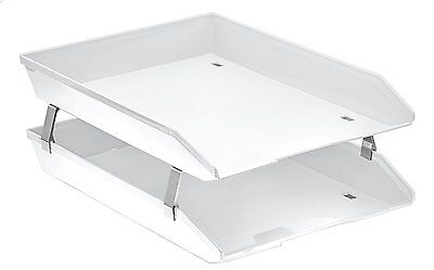 Acrimet Facility 2 Tiers Double Letter Tray Front Loading Design White Color