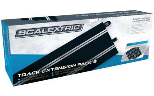 Scalextric Track Extension Pack 5 - 8pcs C8205 350mm Straight Tracks C8554 OPEN