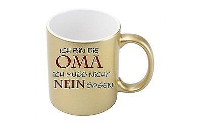 Metallic-kaffee (Ich bin die Oma - Goldmetallic Kaffeetasse)