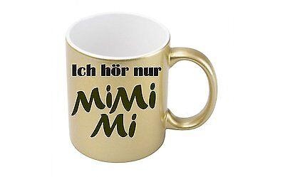 Metallic-kaffee (Ich hör nur Mimimi - Goldmetallic Kaffeetasse)