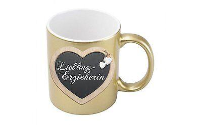Metallic-kaffee (Lieblingserzieherin - Goldmetallic Kaffeetasse)