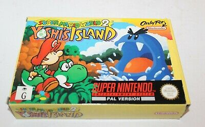 Super Nintendo Super Mario World 2 Yoshi's Island Snes Game Boxed