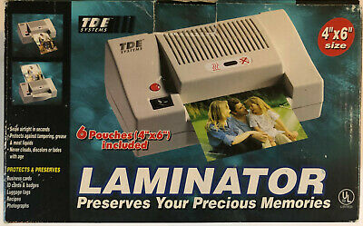 Tde Systems 4x6 Laminator For Ids Pictures Crafts Business Cards Tested