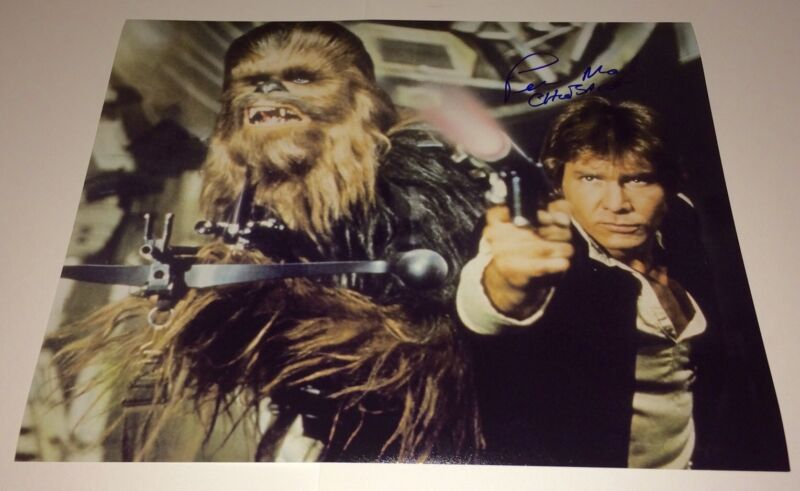 PETER MAYHEW Chewbacca STAR WARS Signed 16X20 Photo Autograph IN PERSON PROOF