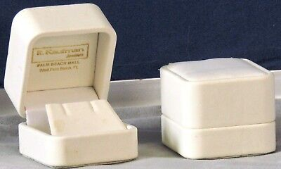 New White Hinged Earring Gift Box By R Kaufman Florida Palm Beach Mall