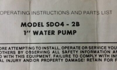 Fuji Robin Pumps Operators Parts Service Manual 6pg Irrigation Water Subaru