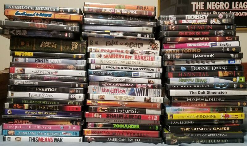 Lot of 68 Used ASSORTED DVD Movies - Bulk DVDs - Used DVDs Lot - Wholesale