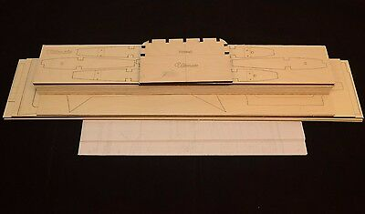 Large 28% Scale ULTIMATE BIPE Laser Cut Short Kit & Plans 63 in wing span