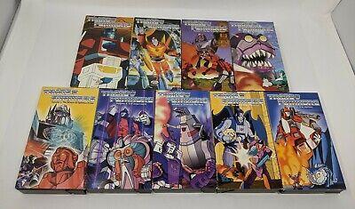 Kid Rhino Transformers VHS Lot of 9 (Vol. 2 3 4 5 7 8 9 11 12) w/ Villains RARE