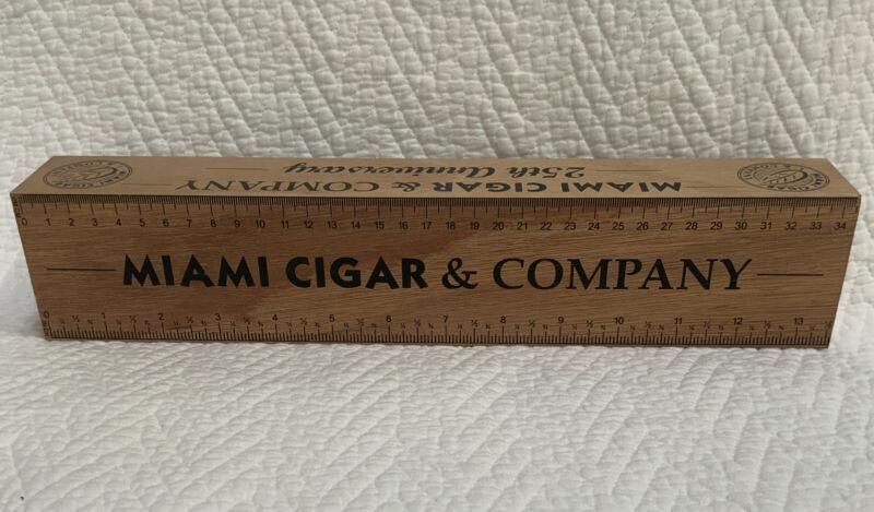 "Miami Cigar & Co. 25th Anniversary Counter Top Length/""Ring Gauge"" Cigar Ruler"