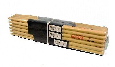12-Pr BRICK VIC FIRTH® Nova 5A Wood Tip DRUM STICKS N5A Hickory Bulk NEW - Bulk Drum Sticks