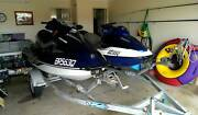 Jetski Seadoo 2 on Double Oceanic trailer Narangba Caboolture Area Preview