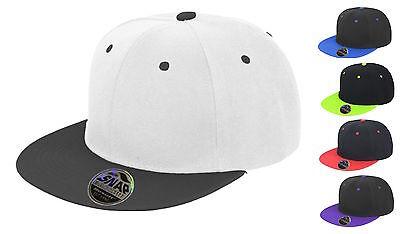 Unisex Bronx Original Flat Peak Snapback Zweifarbig Zweiton Baseballmütze Cap