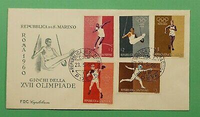 DR WHO 1960 SAN MARINO FDC OLYMPICS  C241941