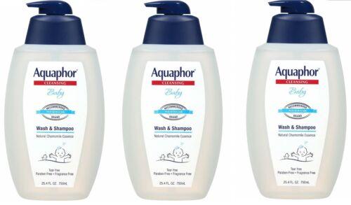Aquaphor Baby Wash and Shampoo 25.4oz (3 Pack)