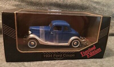 RBI Toys NIB Limited Edition die cast 34 Ford Coupe blue 1/24 scale