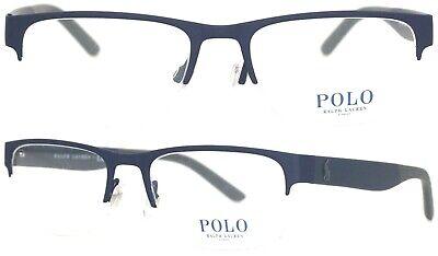 Polo Ralph Lauren Brillenfassung PH1168 9320 53mm blau matt Halbrand 404 53