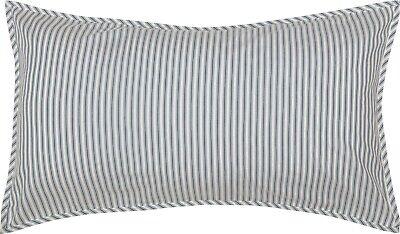 King Pillow Sham Denim Blue Ticking Stripe Cotton Farmhouse Bedding Sawyer Mill - Denim, Pillow Sham
