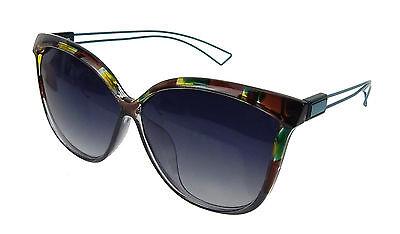 Sonnenbrille grün braun petrol Cat Eye Ella Jonte UV 400 polarisiert Katzenaugen
