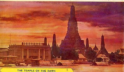 Thailand Siam Bangkok - Temple of the Dawn old postcard