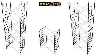 Metaltech Mason Scaffold Frame 64h X 5w Vanguard V-lock Style Kit-10 Sections