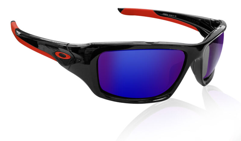 Oakley OO9236 Valve shiny black frame Red Iridium lens Authentic Sunglasses NEW