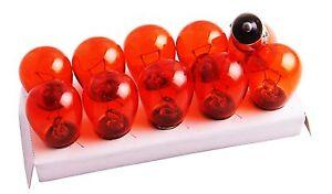10 Stück Blinkerbirnen Birnen Blinker Orange 12V 21W BA15S Lampen Glühbirnen NEU