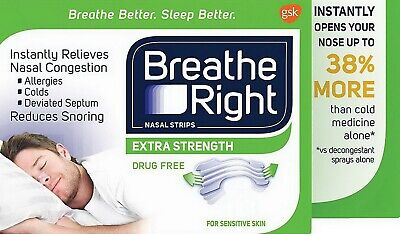 Breathe Right Nasal Strips Extra Strength Clear Snoring Relief 6 - 144 Breathe Right Nasal Strips