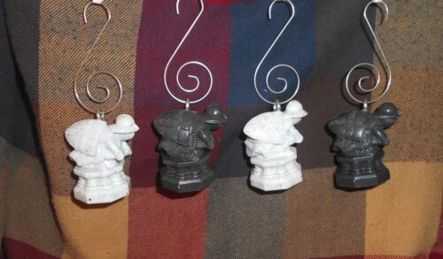 LOT (4) HARRY POTTER Custom Christmas Ornament WIZARDS CHESS WHITE & BLACK PAWNS