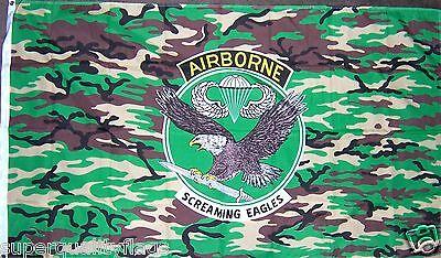 NEW 3X5 ft CAMO 101ST AIRBORNE  EAGLE ARMY MILITARY FLAG au