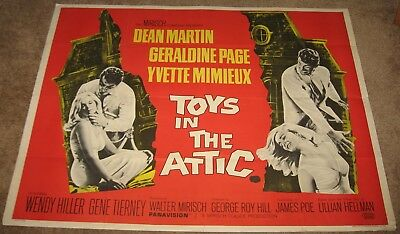TOYS IN THE ATTIC Original UK Movie Poster 1 Sheet 30 x 40 Dean Martin 1963