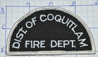 """CANADA, DISTRICT OF COQUITLAM FIRE DEPT BRITISH COLUMBIA  3.75"""" PATCH"""